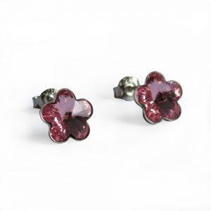 Uhani mala roza rožica