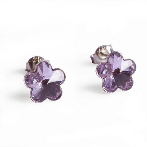 Uhani mala violična rožica