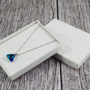 Srebrna ogrlica Triangle Bermuda Blue Swarovski