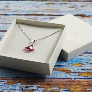 Srebrna ogrlica Butterfly Light Rose Swarovski