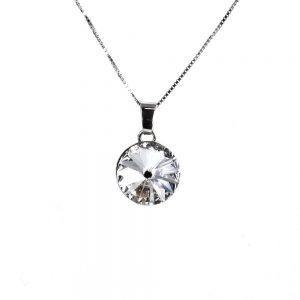 Srebrna ogrlica Rivoli Crystal Swarovski