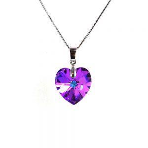 Srebrna ogrlica Heart Vitrail Light Swarovski