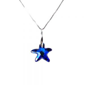 Ogrlica Morska zvezda Bermuda blue