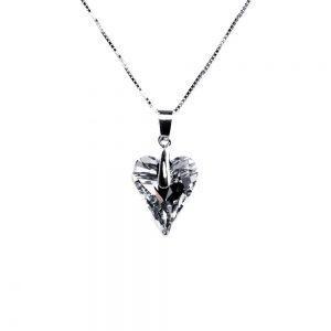 Ogrlica  Wild heart Silver