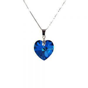 Ogrlica Heart Bermuda Blue