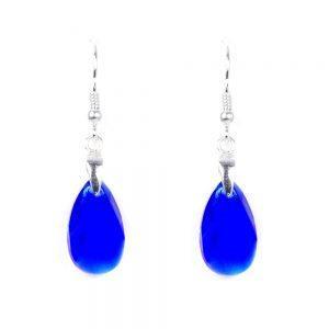 Uhani Hruška Majestic blue