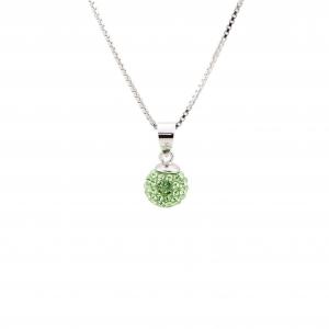 Srebrna ogrlica BeCharmed Peridot Swarovski