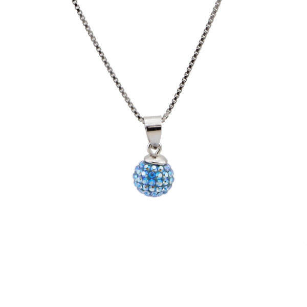 Srebrna ogrlica BeCharmed Light Sapphire Swarovski