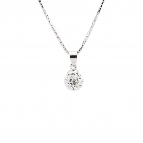 Srebrna Ogrlica BeCharmed Swarovski Crystal lookk