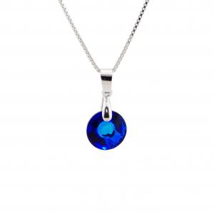 Srebrna ogrlica Sun S Bermuda Blue Swarovski