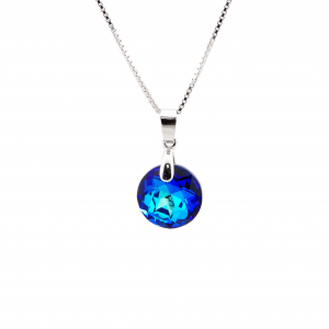 Srebrna ogrlica Classic Cut Bermuda Blue Swarovski
