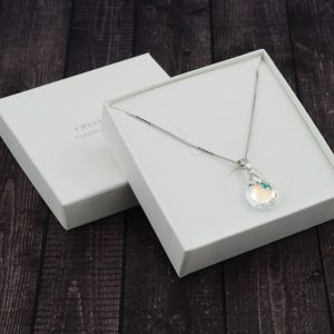 Srebrna ogrlica Classic Cut Crystal AB Swarovski