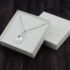 Srebrna ogrlica Urban Crystal AB Swarovski
