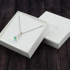 Srebrna ogrlica Triangle Crystal AB Swarovski