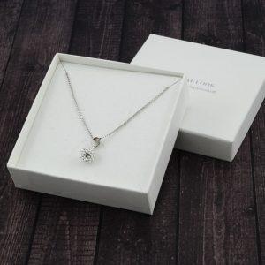 Srebrna ogrlica BeCharmed Crystal Swarovski