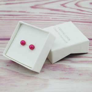 Srebrni uhani Pearl Pink Swarovski