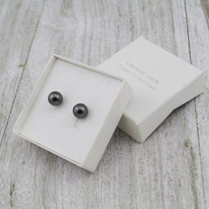 Srebrni uhani Pearl Crystal Grey Swarovski