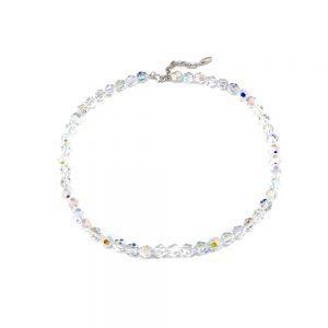 Srebrna ogrlica Crystal Bead Swarovski