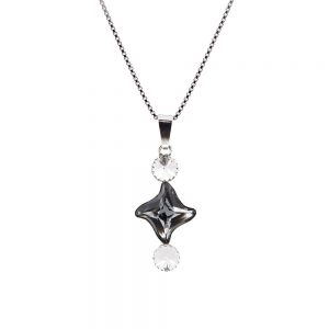 Srebrna ogrlica Fancy Lux SN Swarovski