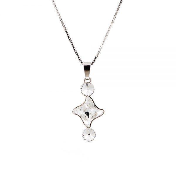Srebrna ogrlica Fancy Lux Crystal Swarovski