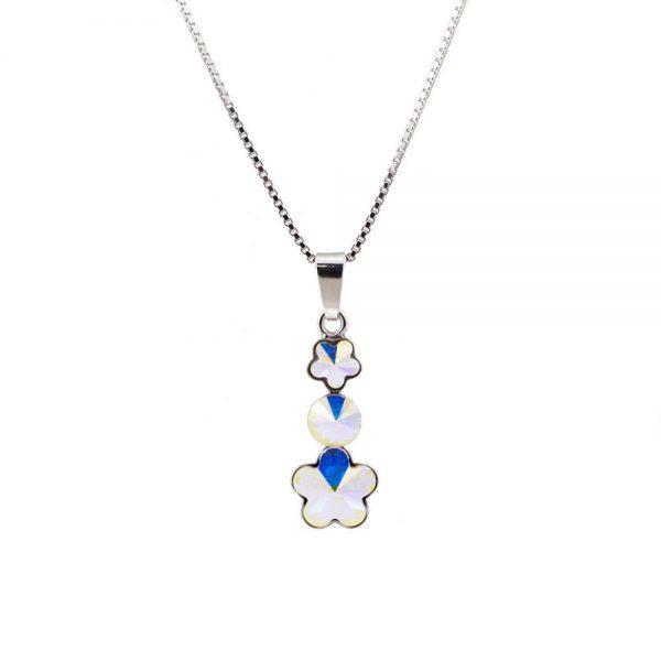Srebrna ogrlica Flower Lux Aurore Swarovski