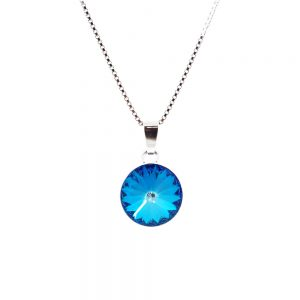 Srebrna ogrlica Rivoli Royal Blue Swarovski