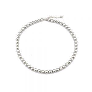 Srebrna ogrlica Pearl Crystal Light Grey Swarovski