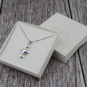 Srebrna ogrlica Fancy Lux AB Swarovski