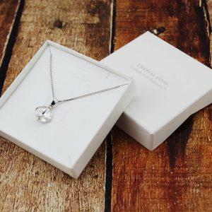 Srebrna ogrlica Rivoli Square Crystal Swarovski