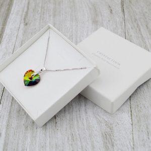 Srebrna ogrlica Heart Vitrail Medium Swarovski