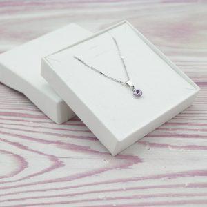 Srebrna ogrlica Cute Violet Swarovski