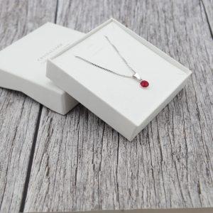 Srebrna ogrlica Cute Siam Swarovski