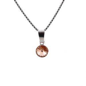 Srebrna ogrlica Cute Peach Swarovski