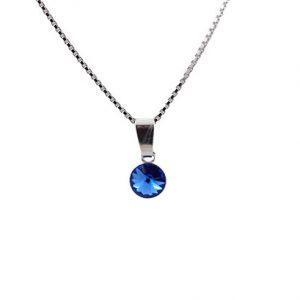 Srebrna ogrlica Cute Sapphire Swarovski