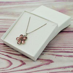Srebrna ogrlica Flower Vintage Rose Swarovski
