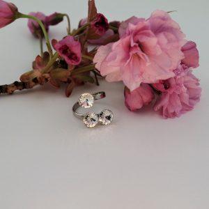 Nakit iz srebra - Srebrni prstan Cute Crystal Swarovski