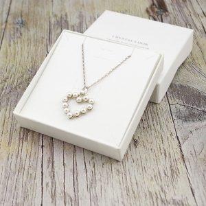 Srebrna ogrlica Pearl Heart