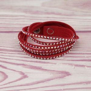 Modna zapestnica Alcantara Memories Red