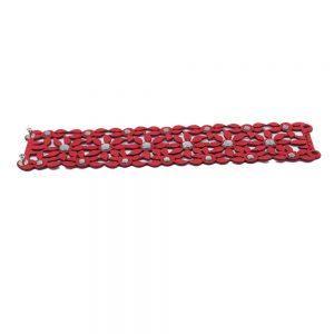 Modna zapestnica Alcantara Retro Red