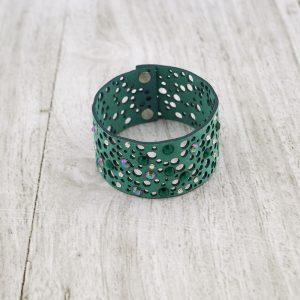 Modna zapestnica Alcantara Lace Green