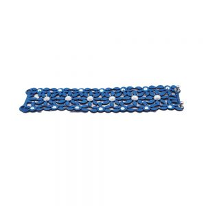 Modna zapestnica Alcantara Retro Blue AB